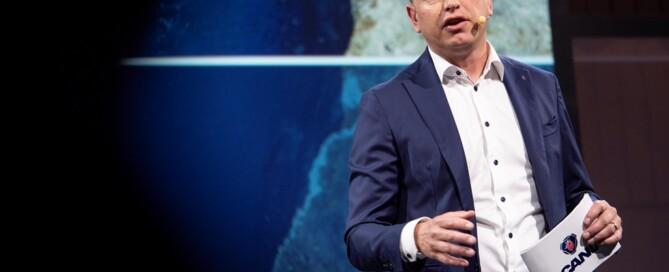 Henrik Henriksson, Scanias VD och koncernchef, menar att det går att uppnå fossilfria tunga transporter år 2050.