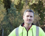"""Stefan Hörnfeldt, projektledare på NCC, menar att el-vägar kommer att vara lönsamma. """"Ja, förr eller senare."""""""
