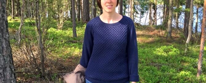 """""""Skogsmulletjejen"""" Hedvig Jägeberg känner att hon hittat rätt. Foto: Privat"""