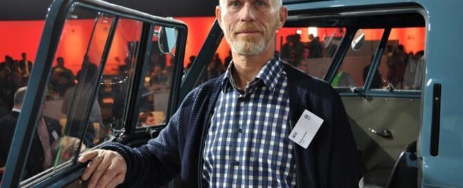 Tonny Larsen från Danmark exporterade sin Volkswagen till Tyskland. Importör och köpare var Volkswagen. Foto: Alf Wesik