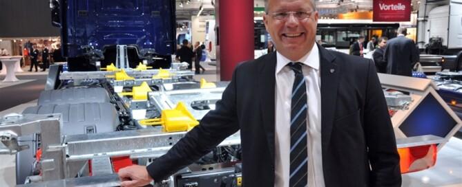 Martin Lundstedt, tidigare VD och koncernchef  Scania, gör Sverigeresan och tar över ratten och samma befattningar hos  Volvo Lastvagnar. Foto Alf Wesik