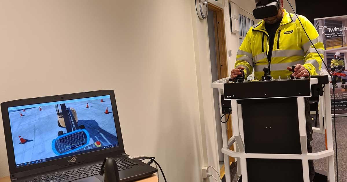 Ramirents förta utbildningscenter helt i VR-miljö. Learning Center Järfälla - powered by Twinsite.