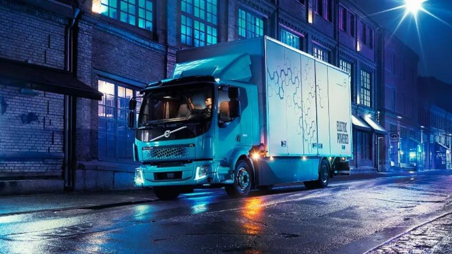 Volvo Lastvagnars första eldrivna lastbil